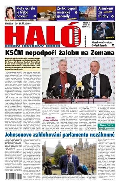 Haló noviny - 25_09_2019 - Elektronické noviny