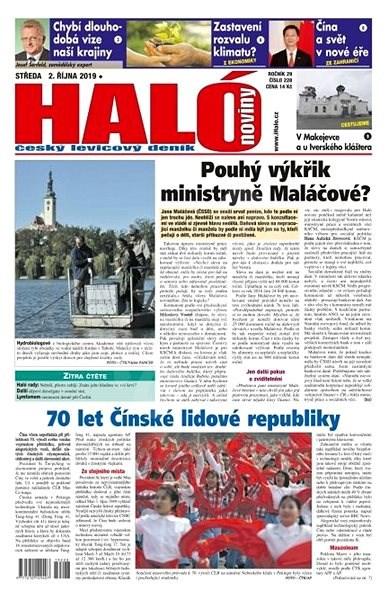 Haló noviny - 02_10_2019 - Elektronické noviny