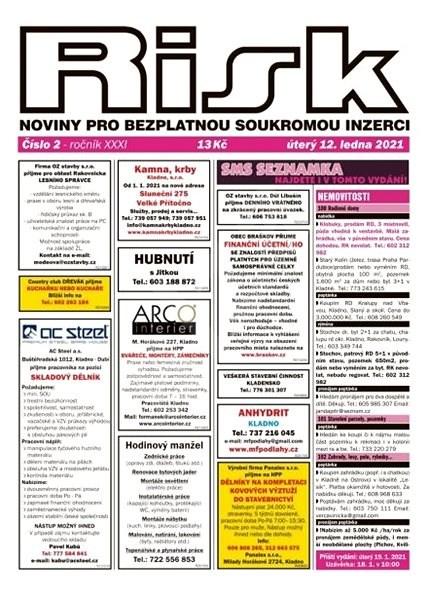 Risk, inzertní noviny - 2/2021 - Elektronické noviny