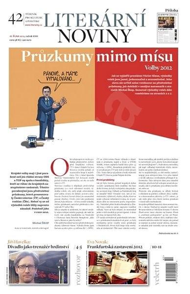 Literární noviny - 42/2012 - Elektronický časopis
