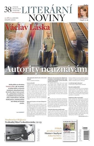 Literární noviny - 38/2012 - Elektronický časopis