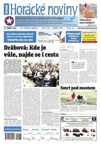 Horácké noviny - úterý 24.2.2015 č.16  - Electronic Newspaper