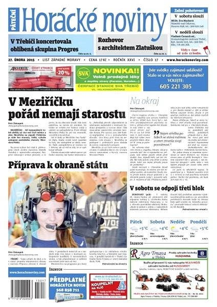 Horácké noviny - pátek 27.2.2015 č. 17 - Electronic Newspaper