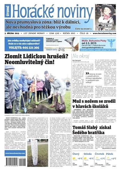 Horácké noviny - úterý 3.3.2015 č. 18 - Electronic Newspaper