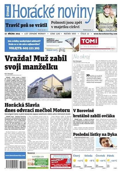 Horácké noviny - úterý 17.3. 2015 č. 22 - Electronic Newspaper