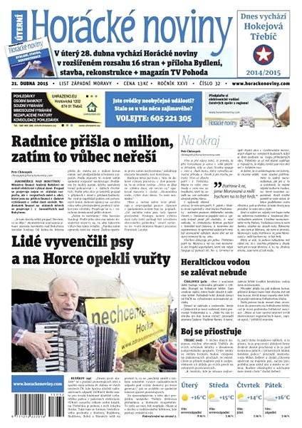 Horácké noviny - úterý 21.4.2015 č. 32 - Electronic Newspaper