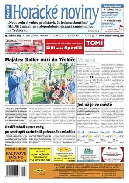 Horácké noviny - pátek 14.5.2015 č. 37 - Electronic Newspaper