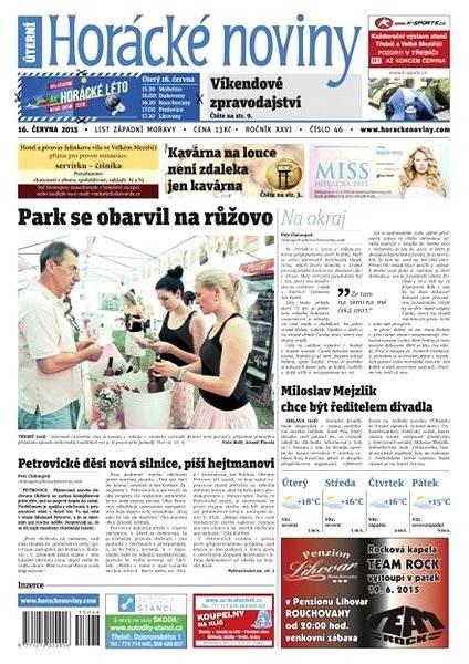 Horácké noviny - Úterý 16.6.2015 č. 46 - Electronic Newspaper