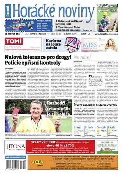 Horácké noviny - Úterý 23.6.2015 č. 48 - Electronic Newspaper