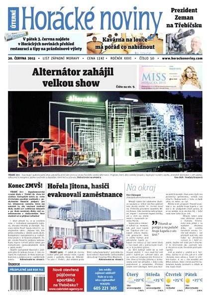 Horácké noviny - Úterý 30.6.2015 č. 50 - Electronic Newspaper
