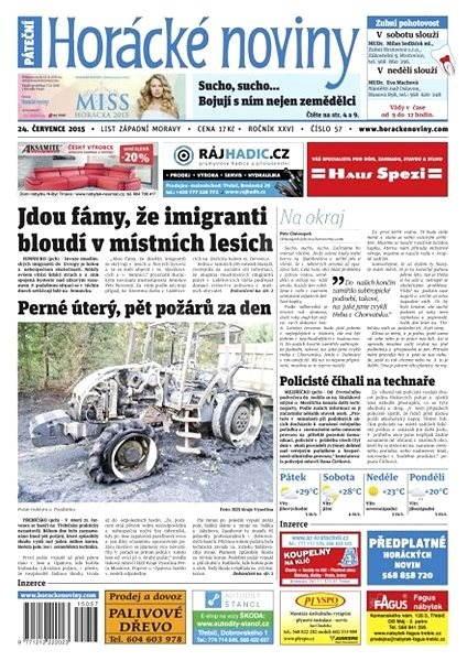 Horácké noviny - Pátek 24.7.2015 č. 57 - Electronic Newspaper
