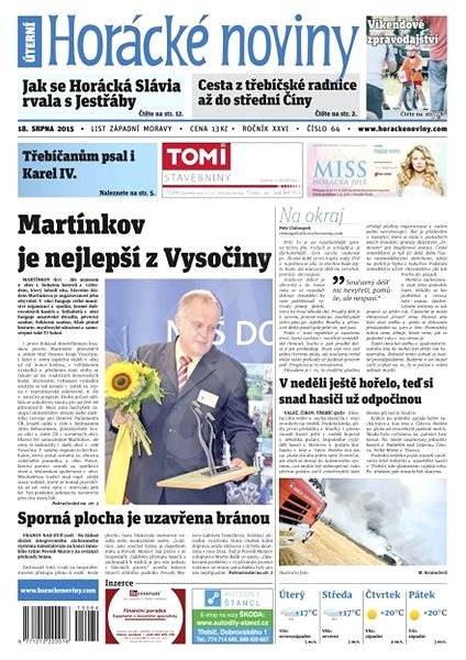 Horácké noviny - Úterý 18.8.2015 č. 64 - Electronic Newspaper