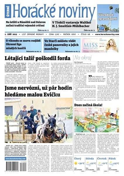 Horácké noviny - Úterý 1.9.2015 č. 68 - Electronic Newspaper