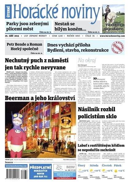 Horácké noviny - Úterý 29.9.2015 č. 76 - Electronic Newspaper