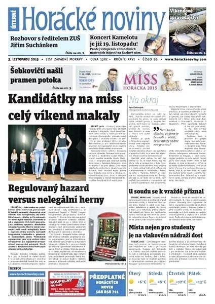 Horácké noviny - Úterý 3.11.2015 č. 86 - Electronic Newspaper