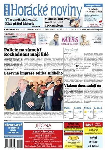 Horácké noviny - Pátek 6.11.2015 č. 87 - Electronic Newspaper