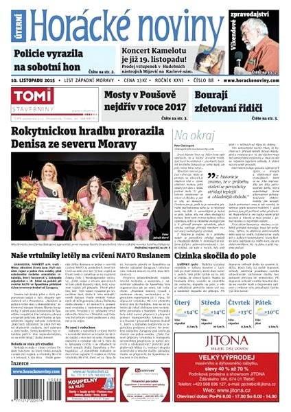 Horácké noviny - Úterý 9.11.2015 č. 88 - Electronic Newspaper