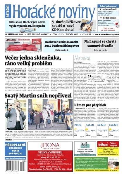 Horácké noviny - Pátek 13.11.2015 č. 89 - Electronic Newspaper