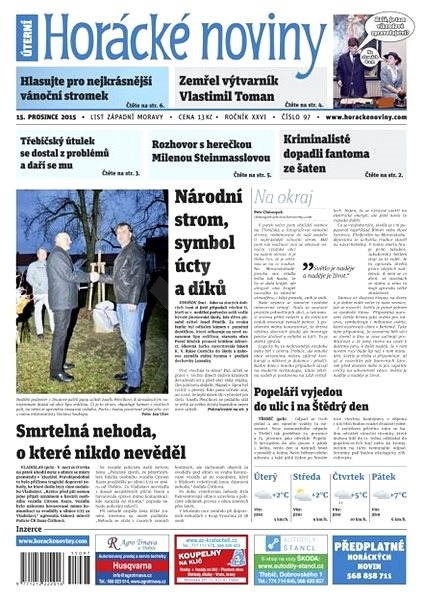 Horácké noviny - Úterý 15.12.2015 č. 97 - Electronic Newspaper