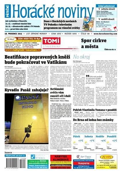 Horácké noviny - Pátek 18.12.2015 č. 98 - Elektronické noviny