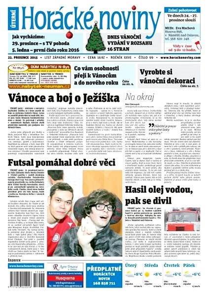 Horácké noviny - Úterý 22.12.2015 č.99 - Electronic Newspaper