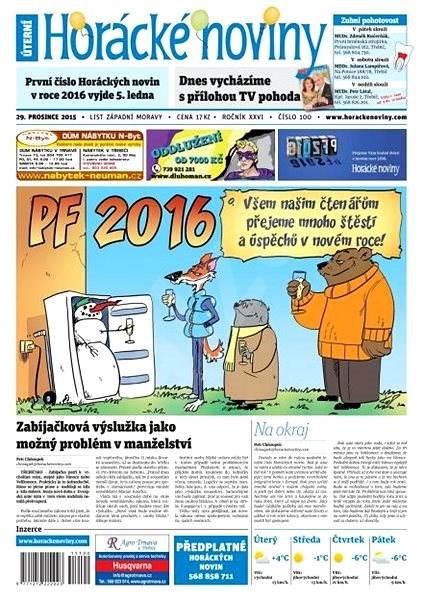 Horácké noviny - Úterý 29.12.2015 č. 100 - Electronic Newspaper