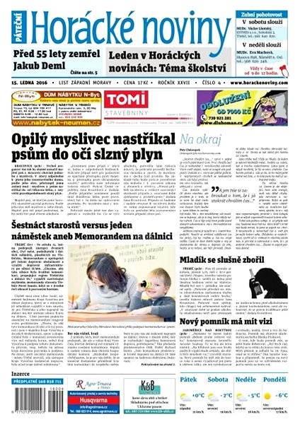 Horácké noviny - Pátek 15.1.2016 č. 004 - Electronic Newspaper