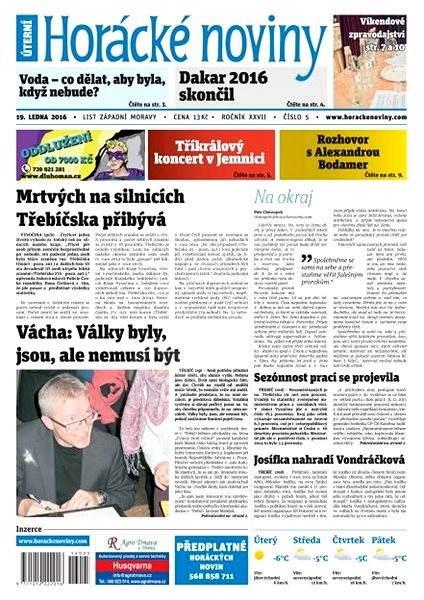 Horácké noviny - Úterý 19.1.2016 č. 005 - Electronic Newspaper