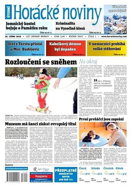 Horácké noviny - Úterý 26.1.2016 č. 007 - Elektronické noviny
