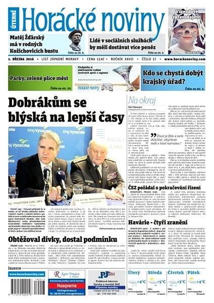 Horácké noviny - Úterý 1.3.2016 č. 017 - Elektronické noviny