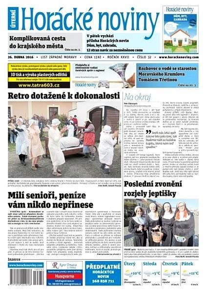 Horácké noviny - Úterý 26.4.2016 č. 032 - Elektronické noviny