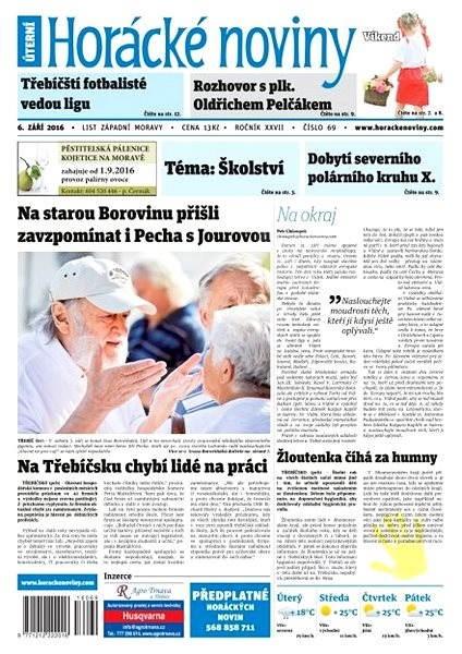 Horácké noviny - Úterý 6.9.2016 č. 069 - Elektronické noviny