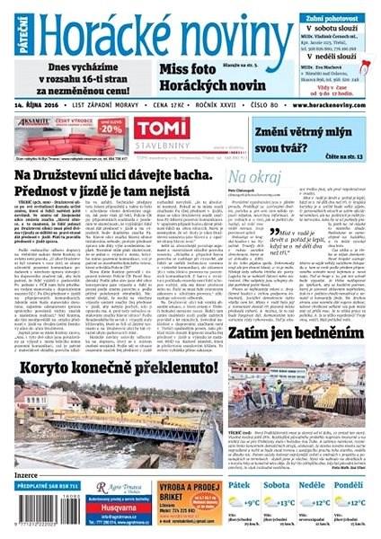 Horácké noviny - Pátek 14.10.2016 č. 080 - Elektronické noviny