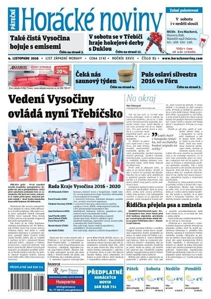 Horácké noviny - Pátek 4.11.2016 č. 085 - Elektronické noviny