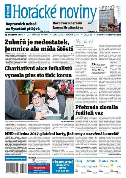 Horácké noviny - Úterý 13.12.2016 č.096 - Elektronické noviny