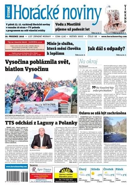 Horácké noviny - Úterý 20.12.2016 č.098 - Elektronické noviny