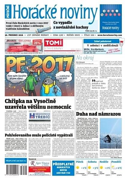 Horácké noviny - Pátek 30.12.2016 č. 100 - Elektronické noviny