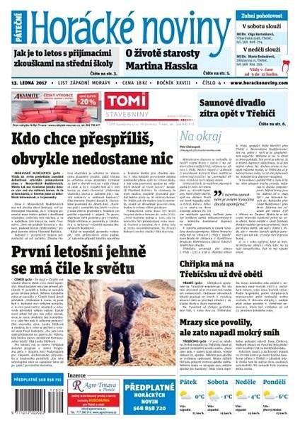 Horácké noviny - Pátek 13.1.2016 č. 004 - Elektronické noviny
