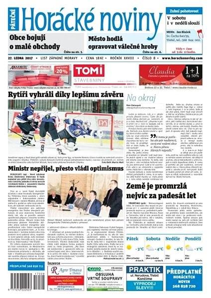 Horácké noviny - Pátek 27.1.2017 č. 008 - Elektronické noviny