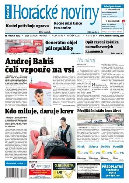 Horácké noviny - Pátek 17.2.2016 č. 014 - Elektronické noviny