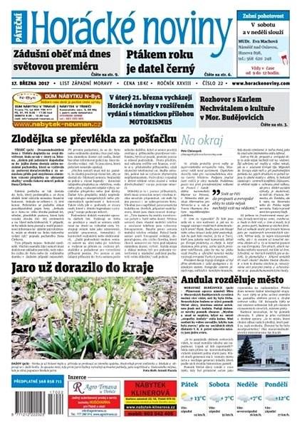 Horácké noviny - Pátek 17.3.2017 č. 022 - Elektronické noviny