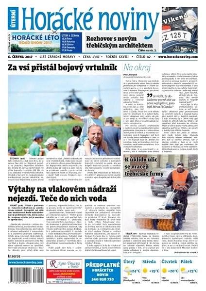 Horácké noviny - Úterý 6.6.2017 č. 042 - Elektronické noviny