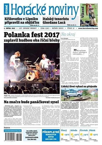 Horácké noviny - Úterý 1.8.2017 č. 057 - Elektronické noviny