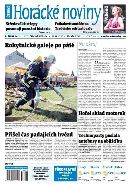 Horácké noviny - Úterý 8.8.2017 č. 059 - Elektronické noviny