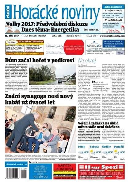 Horácké noviny - Pátek 15.9.2017 č. 070 - Elektronické noviny