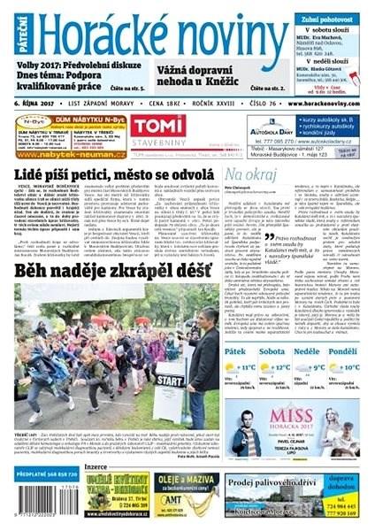 Horácké noviny - Pátek 06.10.2017 č. 076 - Elektronické noviny