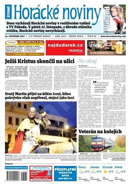 Horácké noviny - Úterý 14.11.2017 č. 087 - Elektronické noviny