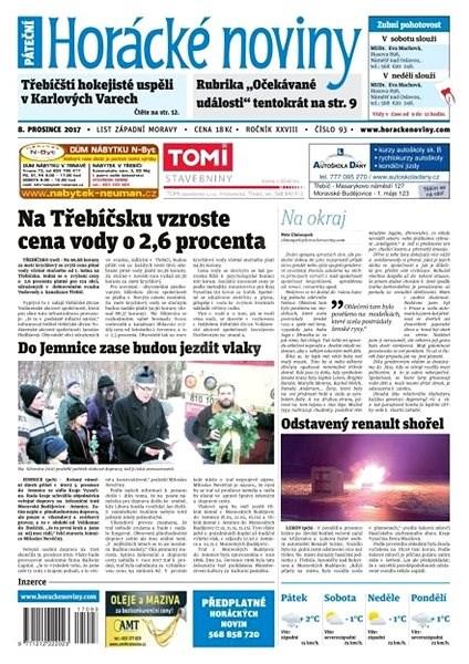 Horácké noviny - Pátek 08.12.2017 č. 093 - Elektronické noviny