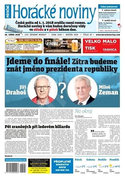 Horácké noviny - Pátek 26.1.2018 č. 007 - Elektronické noviny