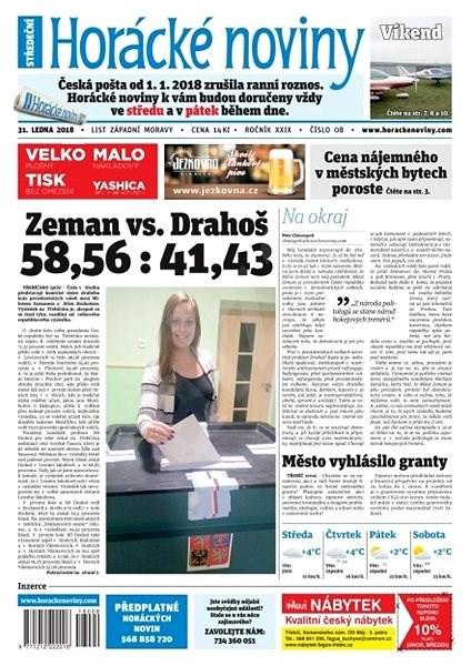 Horácké noviny - Středa 31.1.2018 č. 008 - Elektronické noviny